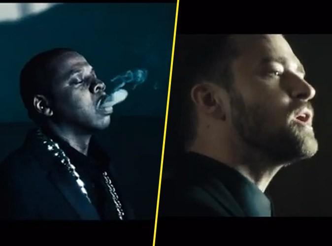 """Vidéo : Jay-Z : tandem de choc avec Justin Timberlake pour le clip smart et arty de """"Holy Grail"""" !"""