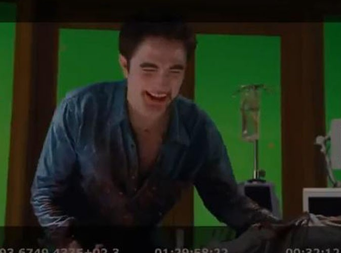 Vidéo : Kristen Stewart, Robert Pattinson et Taylor Lautner morts de rire pour LA scène mythique de Twilight : Révélations !