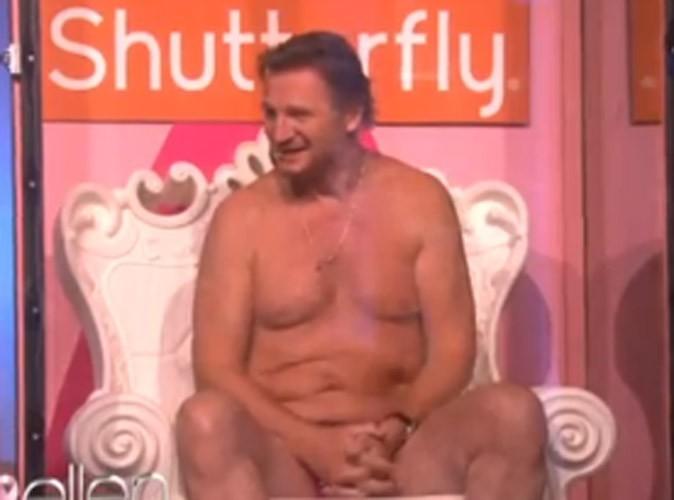 Video : L'acteur Liam Neeson presque nu à la télévision américaine !