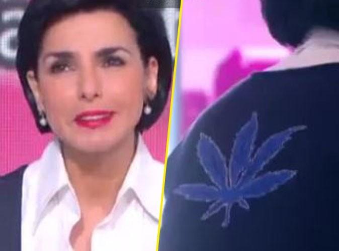 """Vidéo : Rachida Dati : polémique autour de son pull, """"Ce n'est pas une feuille de cannabis !"""""""