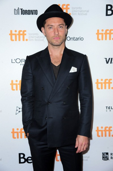 Jude Law au festival de Toronto pour son film Dom Hemingway, le 11 septembre 2013