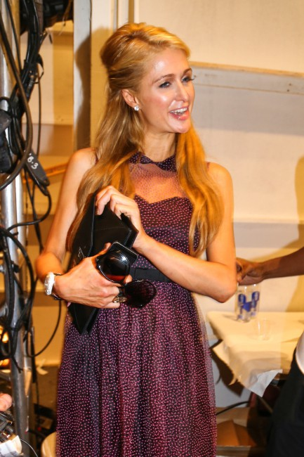 Paris Hilton à la Fashion Week de New York, le 11 septembre 2013