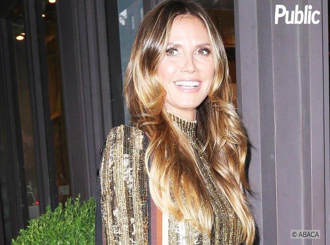Heidi Klum : Elle sort une robe en or pour une dédicace sexy !