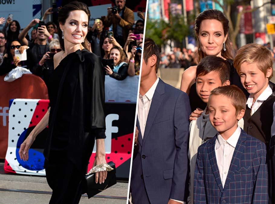 Angelina Jolie : nouveau tapis rouge avec ses 6 enfants, et toujours pas de Brad Pitt...