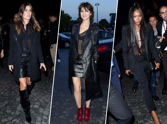 Charlotte Casiraghi, Charlotte Gainsbourg, Naomi Campbell... font scintiller la Tour Eiffel en Saint Laurent !