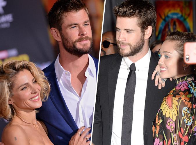 Chris Hemsworth fou amoureux d'Elsa Pataky devant son frère Liam et Miley Cyrus à la première de Thor Ragnarök