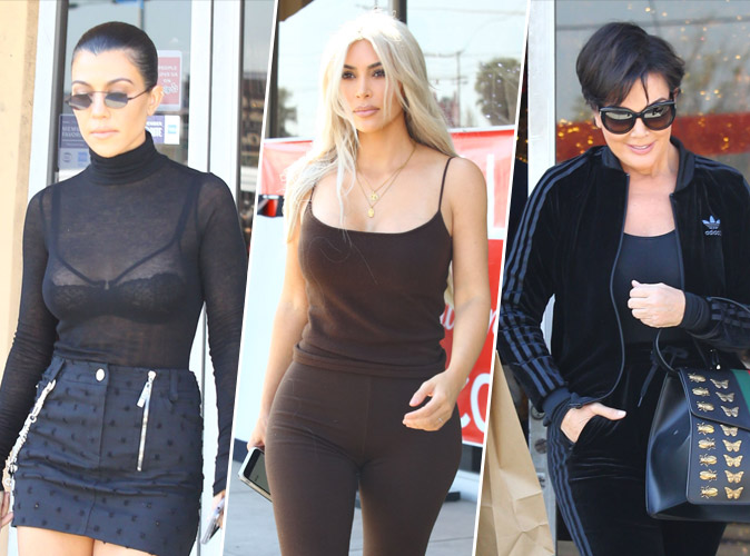 Kourtney Kardashian : Sexy avec son haut transparent en compagnie de Kim et Kris Jenner !